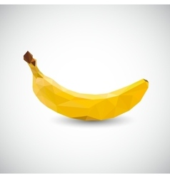 polygon banana vector image