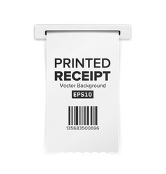 printed receipt sales shopping realistic vector image