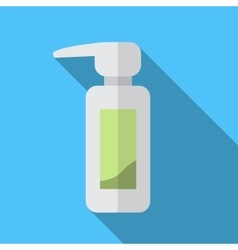 Pump bottle flat icon vector image