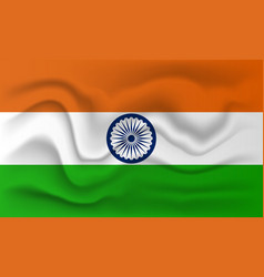 realistic flag of india vector image