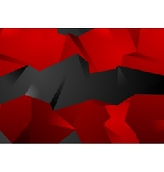 Red and black abstract 3d polygonal shapes vector image