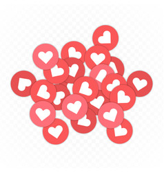 red like icons background vector image