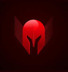 Red warrior logo design vector