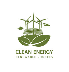 Renewable energy icon vector