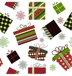 Retro Christmas Gift boxes vector image