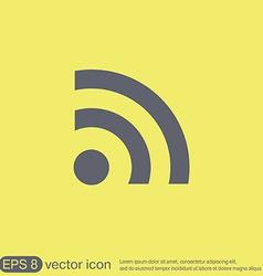 Rss symbol character news vector