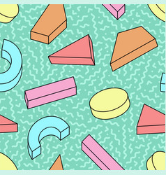seamless trendy pattern with colorful vector image