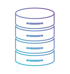 Server hosting storage icon in color gradient vector