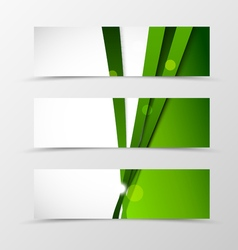 Set of header banner wave design vector