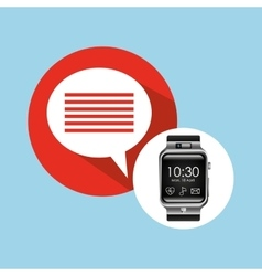 Smart watch on hand-bubble speech vector