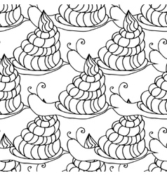 snail background vector image