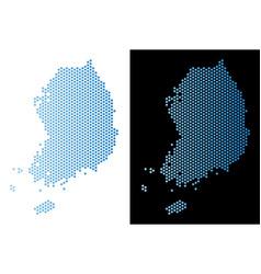 South korea map hex-tile mosaic vector