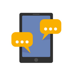 tablet sms chat icon flat style vector image
