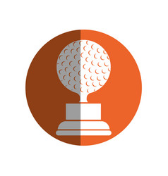 Trophy golf isolated icon vector