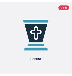 Two color tribune icon from religion concept vector