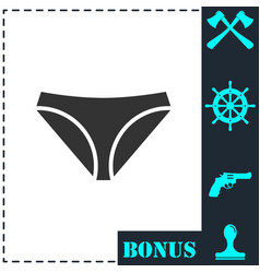 underwear icon flat vector image