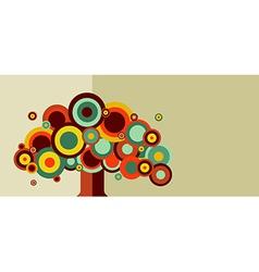 Vintage colorful tree vector image