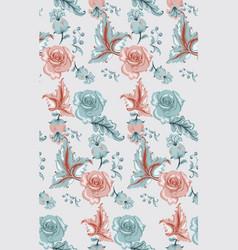 vintage damask pattern old 30s style vector image
