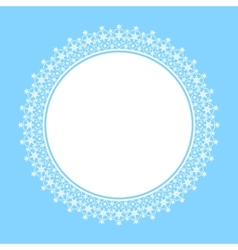 White frame of snowflakes vector