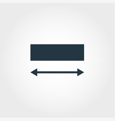 width measurement icon from measurement icons vector image