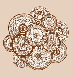ethnic henna mehndi ornament indian style vector image vector image