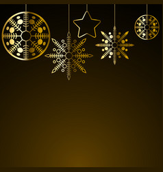 golden christmas decoration vector image