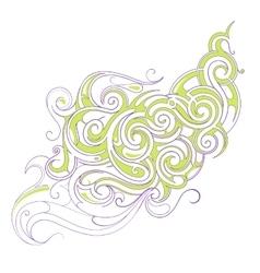 Liquid ornament vector image vector image