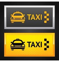 taxi cab set label vector image vector image