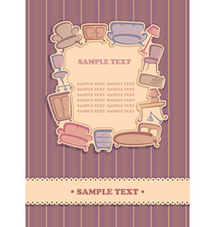 background with furniture images vector image vector image