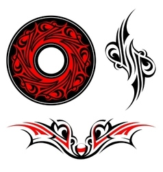 Gothic style tattoo shape set vector image vector image