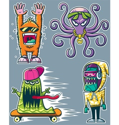 Graffiti Monsters vector image vector image