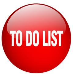 To do list red round gel isolated push button vector