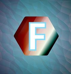 letter f set vector image