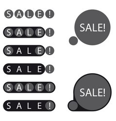 stickers sale label vector image vector image