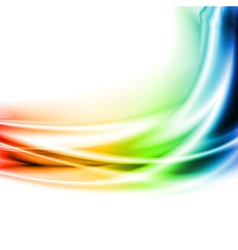 Colourful waves vector image vector image