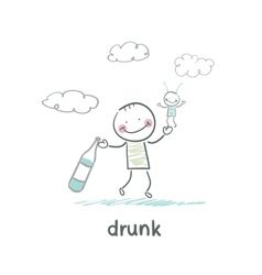 drunk vector image vector image