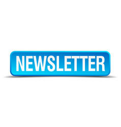 Newsletter blue 3d realistic square isolated vector