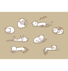 sleeping cats set vector image vector image