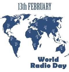 World Radio Day vector image