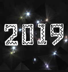 2019 grunge stamp new year sign vector