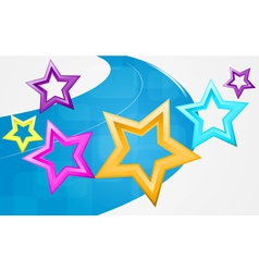 Abstract background with motley stars vector