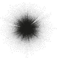 Abstract monochrome halftone blast EPS 10 vector
