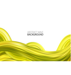 acrylic paint abstract green wave vector image