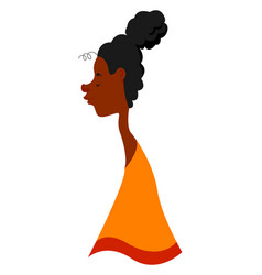 African american woman on white background vector
