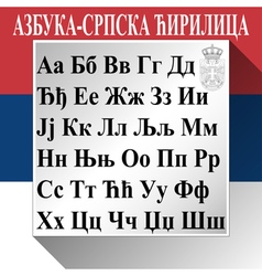 Alphabet-Serbian Cyrillic vector image