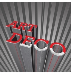 Art deco letters vector
