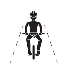 bike ride black concept icon bike ride vector image