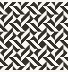 black and white abstract geometric quilt pattern vector image