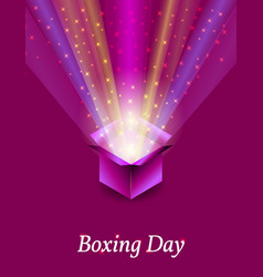 Boxing day concept of the holiday in the uk 26 vector