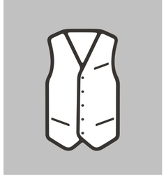 Business waistcoat on background vector